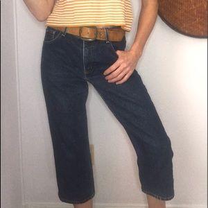 👖VTG EXPRESS BLUES Y2K hi rise crop jeans